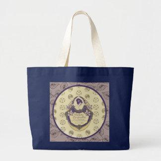 Bolsa Tote Grande Etiqueta francesa do sabão do Coquette de Violette