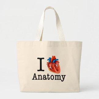 Bolsa Tote Grande Eu amo a anatomia