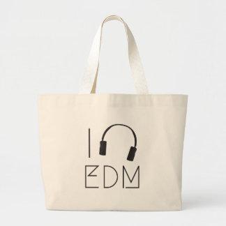 Bolsa Tote Grande Eu amo EDM