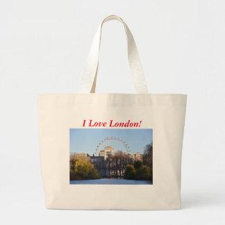 Bolsa Tote Grande Eu amo Londres!
