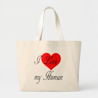 Bolsa Tote Grande Eu amo meu ser humano