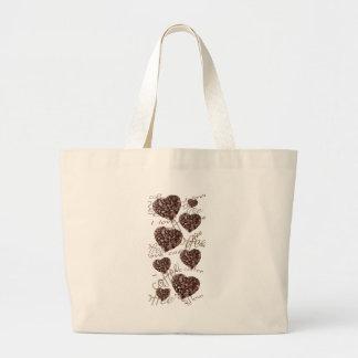 Bolsa Tote Grande Eu amo o café!!