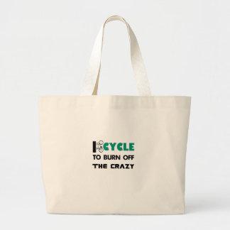 Bolsa Tote Grande Eu dou um ciclo para consumir a louca, bicicleta