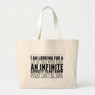 Bolsa Tote Grande Eu estou procurando muitos homens que têm