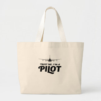 Bolsa Tote Grande Eu sou um piloto