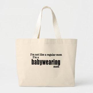 Bolsa Tote Grande Eu sou uma mamã de Babywearing - sacola pesada