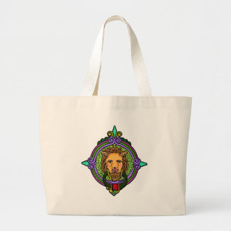 Bolsa Tote Grande Exclusive da arte do leão