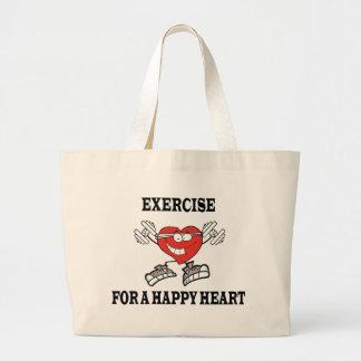 Bolsa Tote Grande exercício heart2