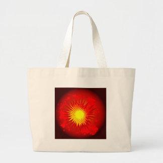 Bolsa Tote Grande Explosão vermelha dos desenhos animados