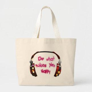Bolsa Tote Grande faça o que faz u feliz