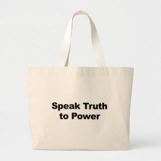 Bolsa Tote Grande Fale a verdade ao poder