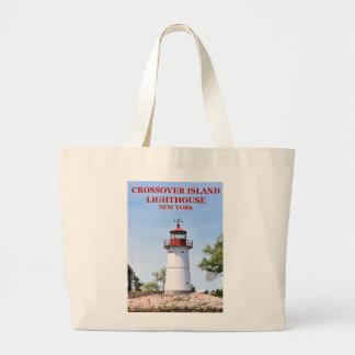 Bolsa Tote Grande Farol da ilha do cruzamento, sacola de New York