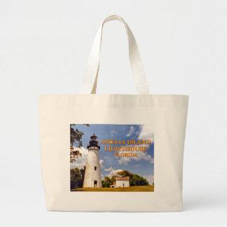 Bolsa Tote Grande Farol de Amelia Island, sacola do jumbo de Florida