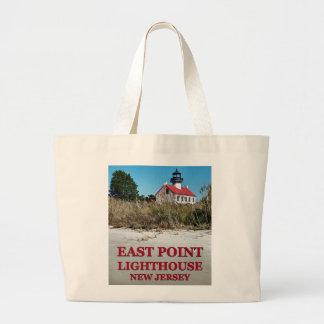 Bolsa Tote Grande Farol do leste do ponto, sacola do jumbo de