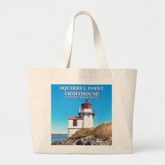 Bolsa Tote Grande Farol do ponto do esquilo, sacola de Maine