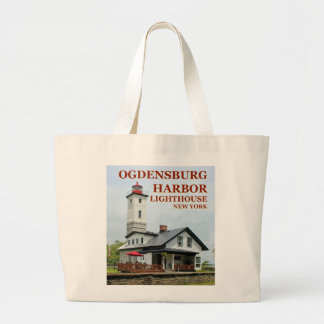 Bolsa Tote Grande Farol do porto de Ogdensburg, sacola de New York