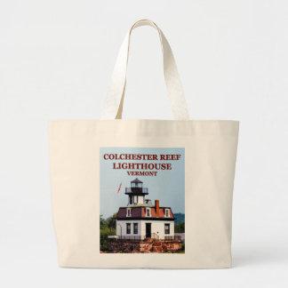 Bolsa Tote Grande Farol do recife de Colchester, sacola de Vermont