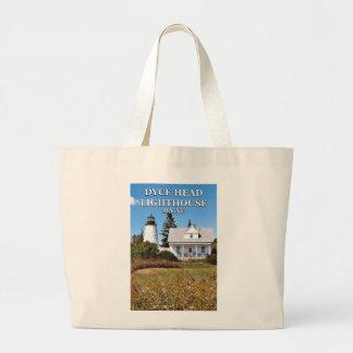 Bolsa Tote Grande Farol principal de Dyce, sacola do jumbo de Maine
