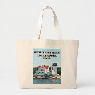 Bolsa Tote Grande Farol principal de Hendricks, sacola de Maine