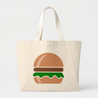 Bolsa Tote Grande Fast food do Hamburger um sanduíche