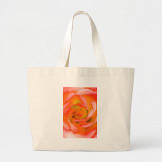 Bolsa Tote Grande Fim-acima cor-de-rosa da laranja