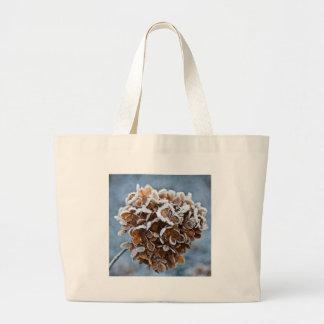 Bolsa Tote Grande Flor com cristais de gelo