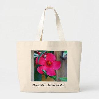 Bolsa Tote Grande Flor onde você é plantado! Sacola