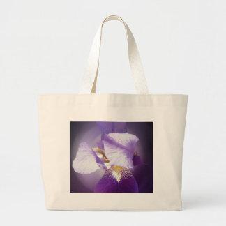 Bolsa Tote Grande flor roxa da íris