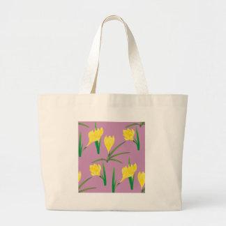 Bolsa Tote Grande Flores amarelas do açafrão