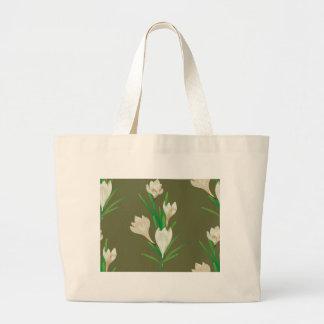 Bolsa Tote Grande Flores brancas 2 do açafrão