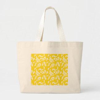 Bolsa Tote Grande Flores no amarelo do mel