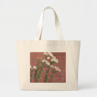 Bolsa Tote Grande Flores no tijolo