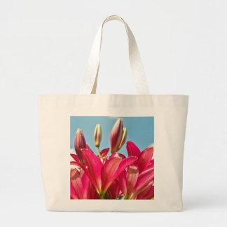 Bolsa Tote Grande Flores que Sewing, saco do lírio de mão de