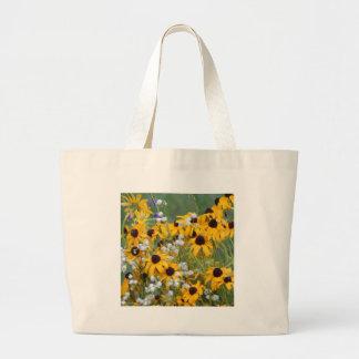 Bolsa Tote Grande Flores susan de olhos pretos
