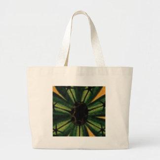 Bolsa Tote Grande flores verdes da pétala