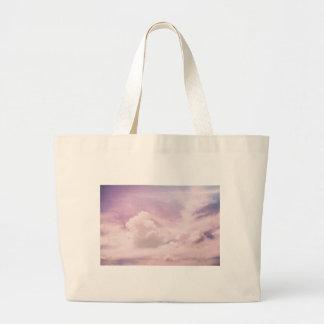 Bolsa Tote Grande Flutuação em nuvens roxas macias