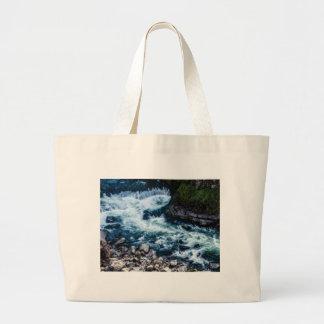Bolsa Tote Grande fluxo do branco do rio