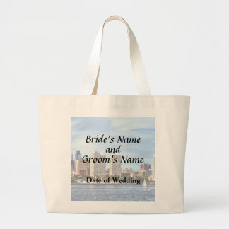 Bolsa Tote Grande Fontes do casamento da skyline do Pa de