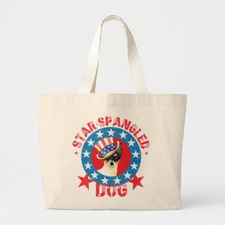 Bolsa Tote Grande Fox patriótico Terrier do brinquedo