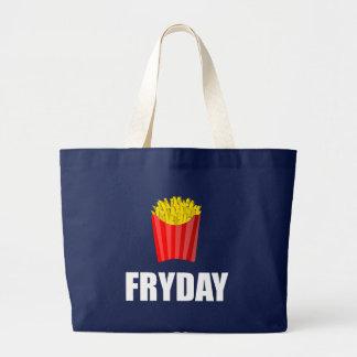 Bolsa Tote Grande Fritadas de Fryday sexta-feira