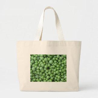 Bolsa Tote Grande Fundo da ervilha verde. Textura de ervilhas verdes