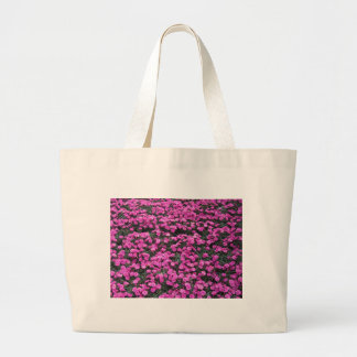 Bolsa Tote Grande Fundo natural de flores roxas do cravo