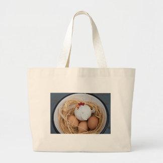 Bolsa Tote Grande Galinha & ovos