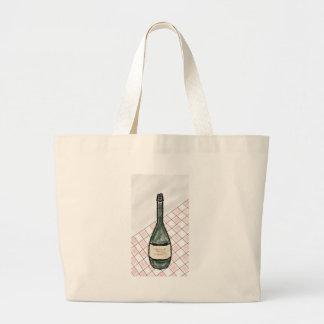 Bolsa Tote Grande Garrafa de vinho