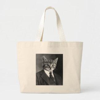 Bolsa Tote Grande Gato do cavalheiro