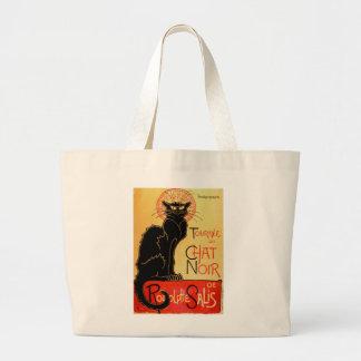 Bolsa Tote Grande Gato preto de Arte Nouveau Le Conversa Noir do