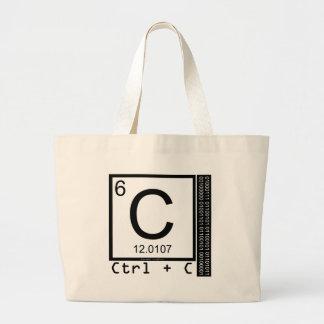 Bolsa Tote Grande Geek mim! Cópia de carbono