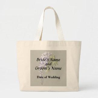 Bolsa Tote Grande Glicínias e folhas que Wedding fontes