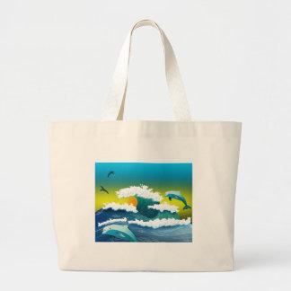 Bolsa Tote Grande Golfinhos