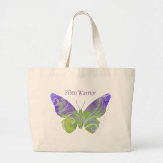 Bolsa Tote Grande Grande sacola da borboleta da fibromialgia